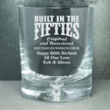 Whisky Glass, Birthday PERSONALISED, ref BIWG